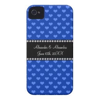 Blue hearts wedding favors iPhone 4 covers