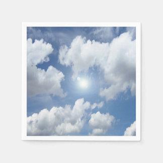 Blue Heaven Clouds + your ideas Disposable Serviette