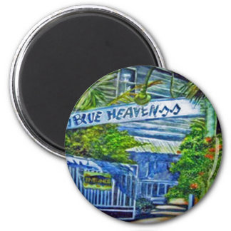'Blue Heaven Key West' by Kandy Cross Mug 6 Cm Round Magnet