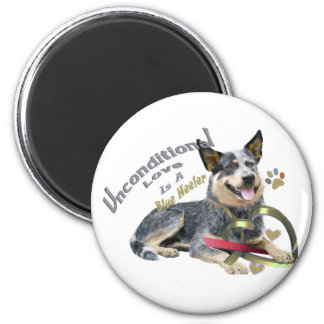 Blue Heeler Unconditional Love Magnet