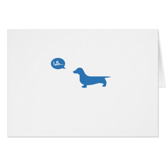 Blue Hello Dog Card