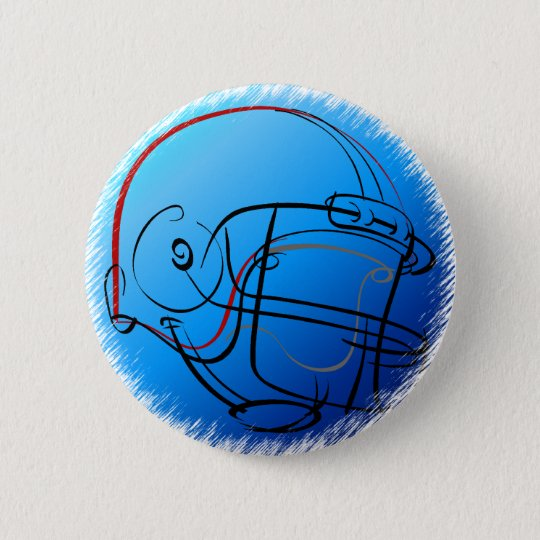 Blue helmet 6 cm round badge