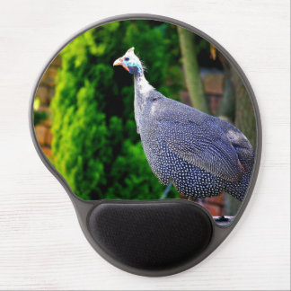 Blue Helmeted Guinea Fowl standing in the sun Gel Mouse Pad