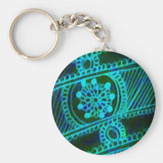 Blue henna art keychains