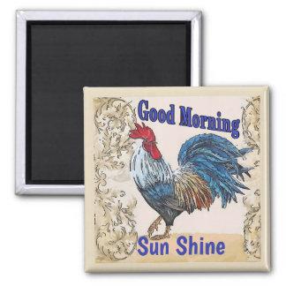 Blue Hens,Good Morning, Edit Text Magnet