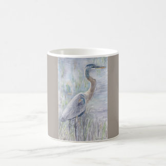 Blue Heron at the Reedy Edge (Mug) Coffee Mug