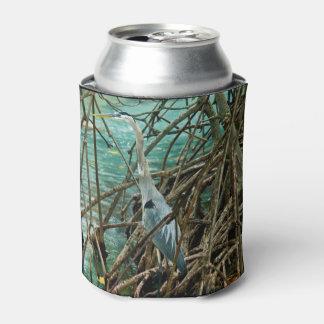 Blue Heron Bird Can Cooler