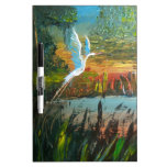 Blue Heron Flying Dry Erase White Board