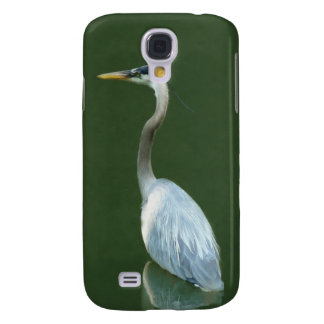 Blue Heron going fishing Samsung Galaxy S4 Cases