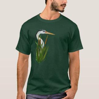 Blue Heron In Cattails  T-Shirt