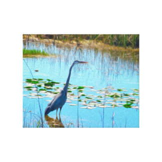 Blue Heron in the Glades - Canvas Print