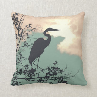 Blue Heron nursery sunset birds watching Cushion
