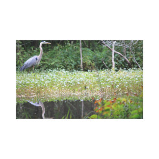 Blue Heron on Goose Creek Reservoir Canvas