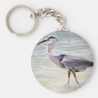 Blue Heron on Lovers Key Keychain