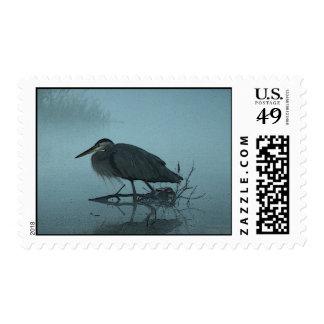 Blue Heron Postage Stamps