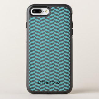 Blue Herringbone OtterBox Symmetry iPhone 7 Plus Case