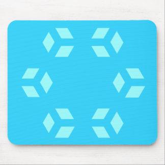 Blue Hexagon Pattern Mousepad