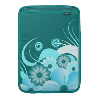 Blue Hibiscus 13 Inch Macbook Air Sleeve Vertical