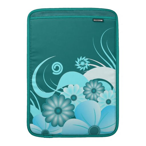 Blue Hibiscus 13 Inch Macbook Air Sleeve Vertical MacBook Air Sleeve