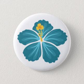 Blue Hibiscus 6 Cm Round Badge