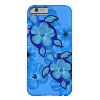 Blue Hibiscus And Honu Turtles Barely There iPhone 6 Case