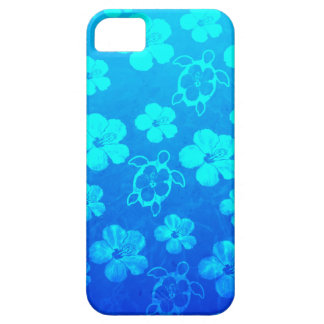 Blue Hibiscus And Honu Turtles Case For The iPhone 5