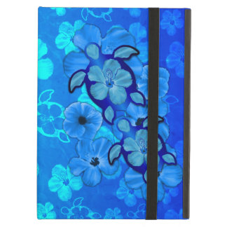 Blue Hibiscus And Honu Turtles Cover For iPad Air