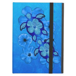 Blue Hibiscus And Honu Turtles iPad Air Case