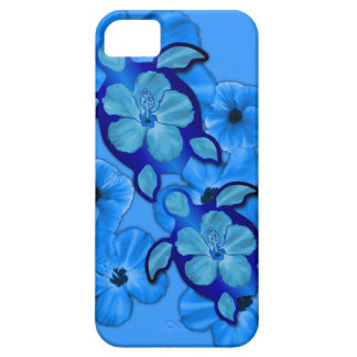 Blue Hibiscus And Honu Turtles iPhone 5 Cover