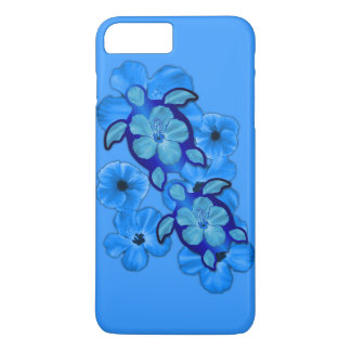 Blue Hibiscus And Honu Turtles iPhone 8 Plus/7 Plus Case