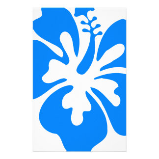 Blue Hibiscus Flower Stationery