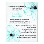 Blue Hibiscus Wedding Breakfast Invitation 11 Cm X 14 Cm Invitation Card