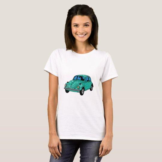 Blue Hippie Car Basic Shirt