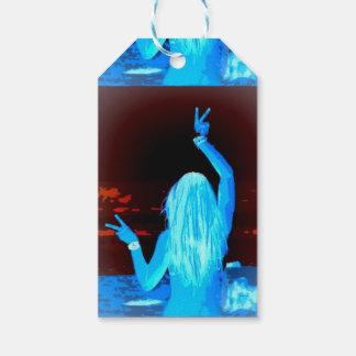 blue hippie girl