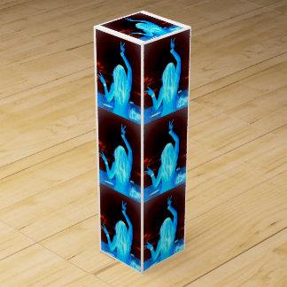 blue hippie girls dancing wine bottle boxes