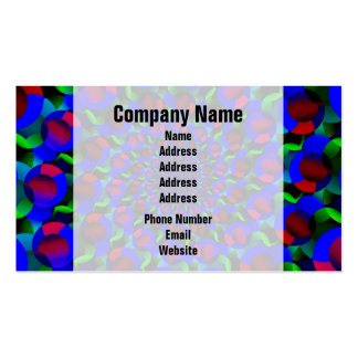 Blue Hippie Spiral Fractal Art Pattern Double-Sided Standard Business Cards (Pack Of 100)