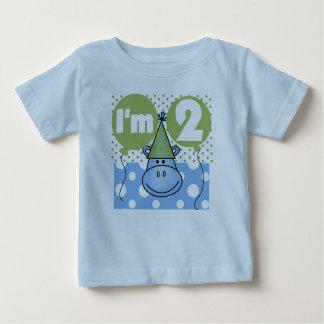 Blue Hippo 2nd Birthday Baby T-Shirt