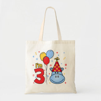 Blue Hippo Face 3rd Birthday