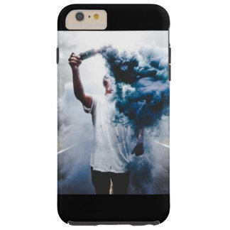 Blue Hipster Smoke Background Tough iPhone 6 Plus Case