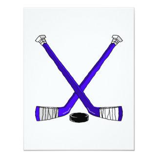 Blue Hockey Card