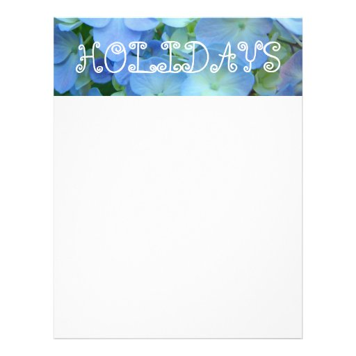 Blue HOLIDAYS Flyers paper Themed Floral paper