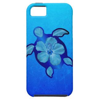 Blue Honu Turtle and Hibiscus Tough iPhone 5 Case