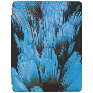Blue Hooded Pita Feather Abstract iPad Cover