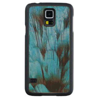 Blue Hooded Pita Feather Abstract Maple Galaxy S5 Slim Case