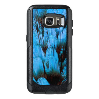 Blue Hooded Pita Feather Abstract OtterBox Samsung Galaxy S7 Case