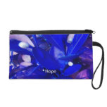 Blue Hope & Faith Wristlet Handbag