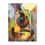 Blue Hope Geometric Industrial Grunge Art 7 Gallery Wrap Canvas