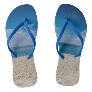 Blue Horizon Sandy Seashore Flip Flops