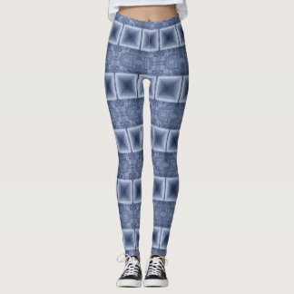 Blue Horizontal Stripes Leggings