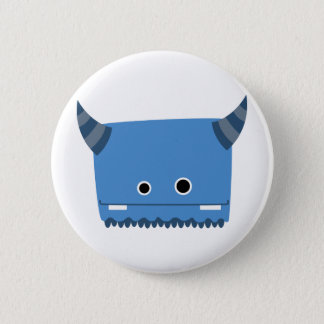 Blue Horned Monster 6 Cm Round Badge